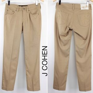 Jacob Cohen Camel Wool Stretch Slim Pants Jeans 27
